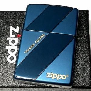 ZIPPO ライター チタン加工 ジッポ おしゃれ ブルー 鏡面&艶消し 青 シンプル チタニウムコーティング メンズ かっこいい ギフト プレゼント|hayamipro