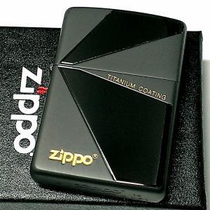 ZIPPO ライター おしゃれ チタン加工 ジッポ ブラック グレー かっこいい 鏡面&艶消し 黒チタン仕上げ シンプル メンズ ギフト プレゼント|hayamipro