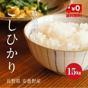 特別栽培米 こしひかり 安曇野産 1等米 30年産 白米 【15kg】|hayashiya-kome
