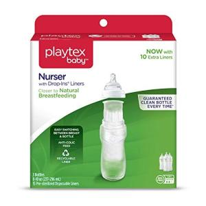 Playtex BPA Free Premium Nurser Bottles with Drop In Liners 3 Count 8 Ounce|hayasho