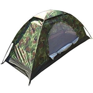 テント 一人用 コンパクト 迷彩柄 キャンプテント ソロテント 小型テント 防災 緊急 【アウトドア用品】|hayasho