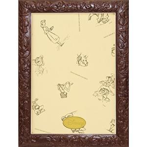 パズルフレーム ディズニー専用 アートフィギュアパネル 108ピース用 ブラウン(18.2x25.7cm)|hayasho