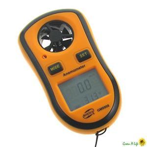 gm8908?Digtial LCD風スピードメーター速度ゲージ温度風風速計|hayasho