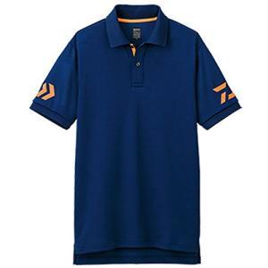 ダイワ(DAIWA) 釣り シャツ 半袖 ポロシャツ ネイビー×チェリートマト L DE-7906|hayasho