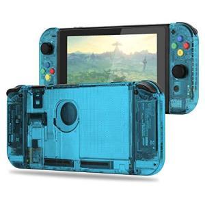 Myriann 任天堂 Nintendo Switch ニンテンドー カラー置換ケース 代わりケース 外殻 ついに登場! (ジョイコン&スイッチ-透明|hayasho