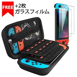 Nintendo Switch ケース+2枚 ガラスフィルム iVoler ニンテンドースイッチ ケース 任天堂switch ケース 20個カート/ケ|hayasho
