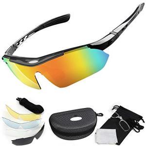 Featural 偏光サングラス 【2019年 5枚レンズフルセット】 偏光レンズ スポーツサングラス UV400 紫外線カット 軽量 度入りフレーム|hayasho