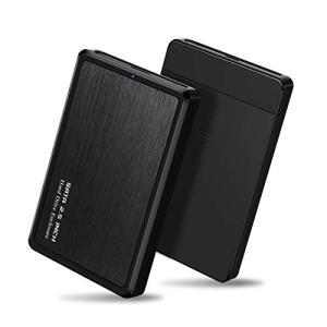 Cablecc USB 3.0-2.5インチ SATA 22ピン 7+15 SSD 外付けハードディスクエンクロージャ ノートパソコン&PC用 ブラッ|hayasho