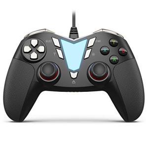IFYOO ONE Pro 連射・振動機能搭載USB接続有線ゲームパッド PC コントローラー ゲーム用(Windows 10/8/7),Steam,|hayasho