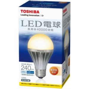 TOSHIBA LED電球 一般電球形4.6W(電球色相当) LDA5L 口金直径26mm hayate