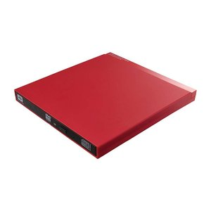 Logitec ポータブルDVDドライブ M-DISC対応 USB3.0 書き込み・再生・編集ソフト付属 9.5mm薄型ドライブ採用 レッド LDR-PUB8U3VRD|hayate