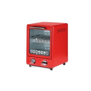 D-STYLIST 縦型オーブントースター 2段 レッド KK-00368RD|hayate