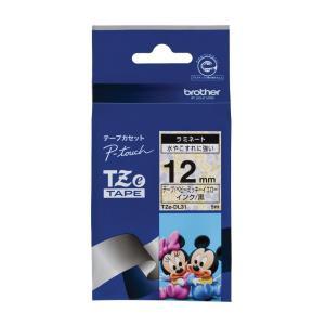 ブラザー工業 TZeテープ ディズニーテープ(ベビーミッキーイエロー/黒字) 12mm TZe-DL31 hayate