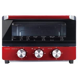 ドウシシャ ピエリア BIG スチームオーブントースター 4枚焼き OTS-131 RD スチームタイマー機能付き 温度調節機能付き|hayate