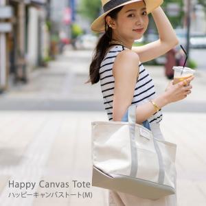 トートバッグ レディース キャンバス「Happy Canvas Tote ハッピーキャンバストートMサイズ 」 hayni