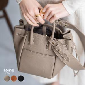 ショルダーバッグ レディース 斜めがけ 本牛革トートバッグ 巾着バッグ 送料無料 「 Ryne ラユーネ 」|hayni