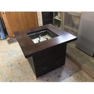 材質   :テーブル 天然木(杉)      : 炉   鉄(耐熱塗装) サイズ  :テーブル 85...