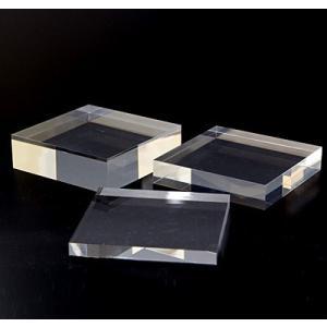 アクリルステージ (透明)板厚(20ミリ) 100×100|hazaiya