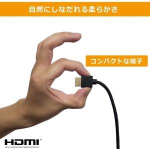 Hanwha HDMIケーブル 3m 細線 4.2mm Ver2.0b スーパースリム ハイスピード 8K 4K 2K対応 UMA-HDMI hazime-buppan