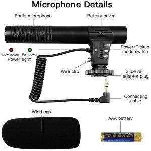 カメラマイク MIC05-アップグレード版 SAMTIAN 外付けマイク一眼レフ/ビデオカメラ/スマートフォン(3.5mmジャック)/pc対 hazime-buppan