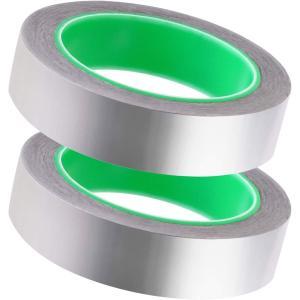 導電性アルミ箔テープ 2個セット 防水アルミテープ 導電性アルミテープ 静電気除去テープ アルミテープ 電導性アルミテープ アルミ箔 アルミ hazime-buppan