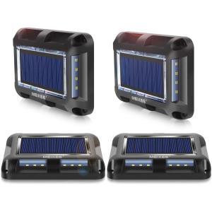 MEIKEE ソーラー式 デッキライト 光センサーで夜間自動点灯ライト、埋め込み式IP67防水ライト 私道ガーデンウォークウェイ裏庭ステップ hazime-buppan