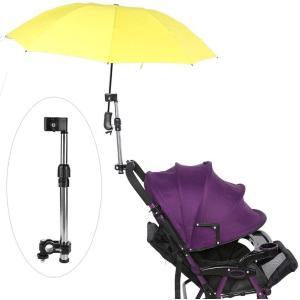 さすべえ 傘スタンド 傘立て 長さ調整できる 360°回転 取り外し簡単 自転車/電動自転車/ハンドル/ベビーカー/車椅子/釣り 傘立てホル|hazime-buppan