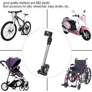 傘スタンド 傘立て さすべえ 長さ調整できる 360°回転 取り外し簡単 自転車/電動自転車/ハンドル/ベビーカー/車椅子/釣り 傘立てホル|hazime-buppan