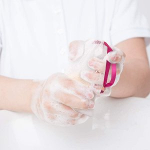 GWHOLE 泡立てネット 石鹸 巾着袋 2枚重ねネット モコモコ泡が作れる洗顔フォーム 石鹸適用 6枚入れ hazime-buppan