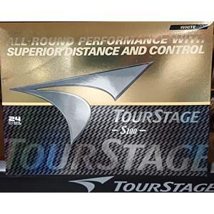 BRIDGESTONE ブリヂストン ゴルフボール ツアーステージ TOURSTAGE S100 /24球入り 高反発2ピース構造|hazime-buppan