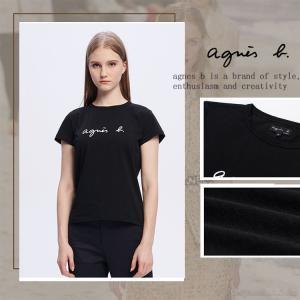アニエスベー レディース Tシャツ 半袖 カットソー ロゴTシャツ コットン100% agnes b...