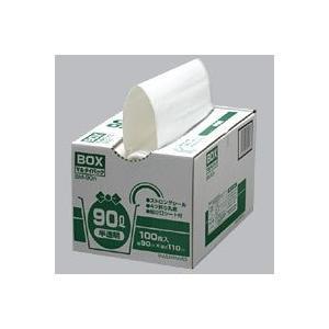 まとめ買い《スズキカコウ》 BM-90N ミミちゃんパック ゴミ袋 半透明 BOX90L 900×1100mm 100枚×4|hbsshop