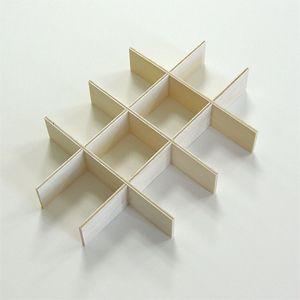 新 工作キット 仕切り板12マス(標本箱 中用)|hc-kitayama