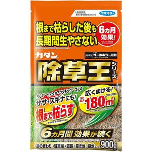 ・「カダン除草王シリーズ オールキラー粒剤 900g」は、手軽にまける粒タイプの除草剤です。約6ヶ月...