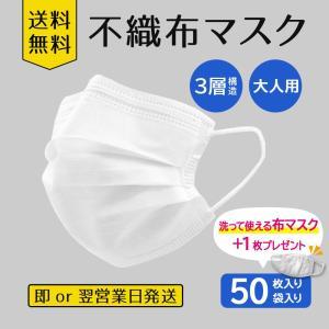 不織布マスク50枚入り 布マスク+1枚プレゼント|hc-store