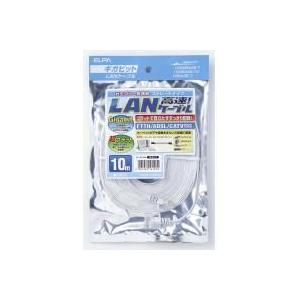 LAN-FT1100(W) CAT6フラットLANケーブル 10M ホワイト|hc7