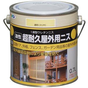 アサヒペン超耐久屋外用ニス 0.7L透明(クリア)|hc7