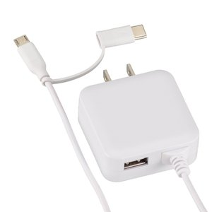 OHM ACアダプター MicroUSB/Type-C変換プラグ USBポート付 MAV-AMC15...