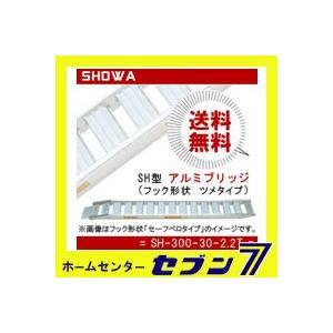 アルミブリッジ SH型 (SH-300-30-2.2T) 1セット2本 鉄シュー・ゴムシュー兼用 昭和ブリッジ hc7