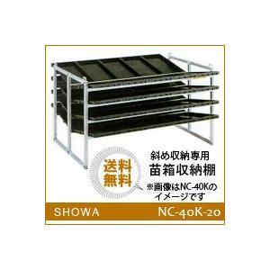 苗箱収納棚 (NC-40K-20) 斜め収納専用 昭和ブリッジ 送料無料 hc7