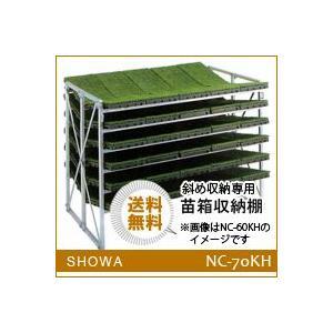 苗箱収納棚 (NC-70KH) 斜め収納専用 昭和ブリッジ 送料無料 hc7