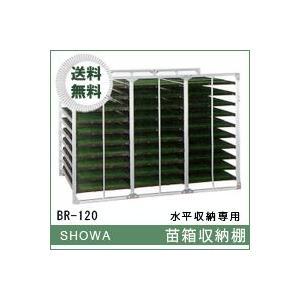 苗箱収納棚 水平収納専用 中規模農家向け BRシリーズ (BR-120) 昭和ブリッジ 送料無料 hc7