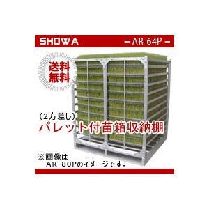 パレット付苗箱収納棚 (AR-64P) 水平収納専用 (パレット:2方差し) 昭和ブリッジ 送料無料 hc7
