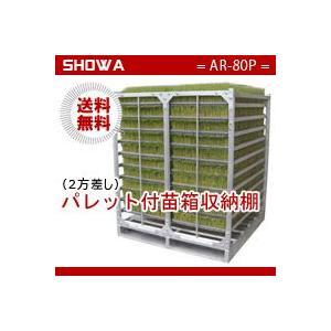 パレット付苗箱収納棚 (AR-80P) 水平収納専用 (パレット:2方差し) 昭和ブリッジ 送料無料 hc7