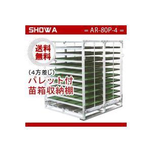 パレット付苗箱収納棚(AR-80P-4) 水平収納専用 (パレット:4方差し) 昭和ブリッジ 送料無料 hc7