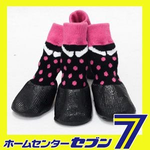 防水シューズ(水玉) (犬用靴)1足4個セット HUGGY BUDDY'S(ハギーバディーズ) |hc7