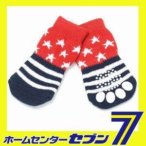 アメリカンスターソックス (犬用靴下 1足分4個セット)(ps008) HUGGY BUDDY'S(ハギーバディーズ) [犬 洋服 犬 靴下 ペット 洋服]|hc7