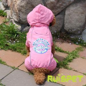 カラフルレインコート/ローズピンク 小型犬用 (M-XLサイズ)RUISPET ルイスペットドッグウェア(メール便/代引不可/着日指定不可)|hc7|05