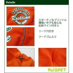 カラフルレインコート/オレンジ 小型犬用 (M-XLサイズ)RUISPET ルイスペットドッグウェア(メール便/代引不可/着日指定不可) hc7 02