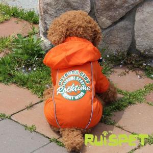 カラフルレインコート/オレンジ 小型犬用 (M-XLサイズ)RUISPET ルイスペットドッグウェア(メール便/代引不可/着日指定不可) hc7 04
